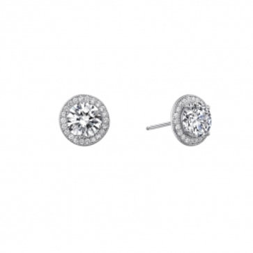 LAFONN Sterling Silver & 1.56tw Simulated Diamond Halo Stud Earrings