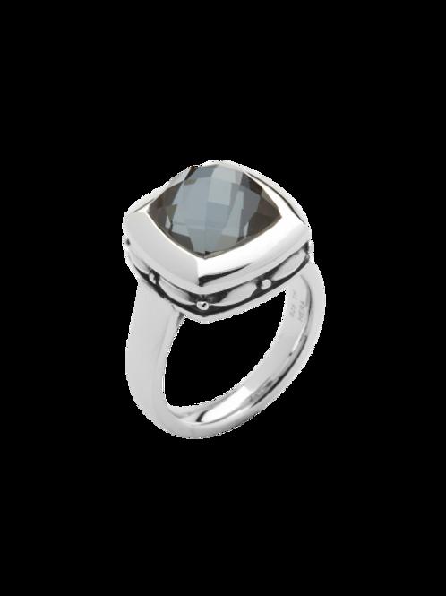 HERA Sterling Silver ZOE Hematite Mist Ring
