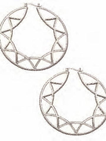 REBECCA HOOK Sterling Silver Filgree Hoop Earrings