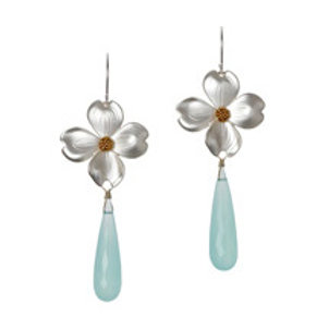 REBECCA HOOK Sterling Silver and Yellow Gold Vermeil & Chalcedony Earrings