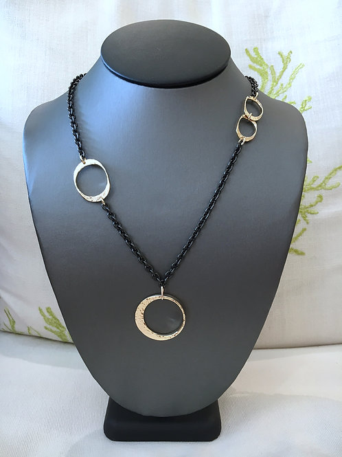 DAVID CRANDALL Yellow 14K and Sterling Silver Necklace