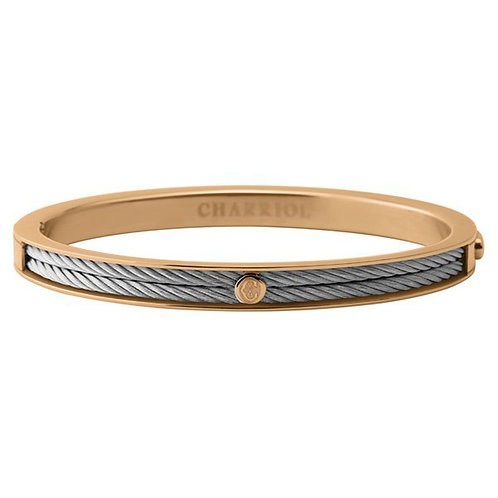 CHARRIOL Rose Tone Stainless Steel FOREVER Thin 2mm Bracelet