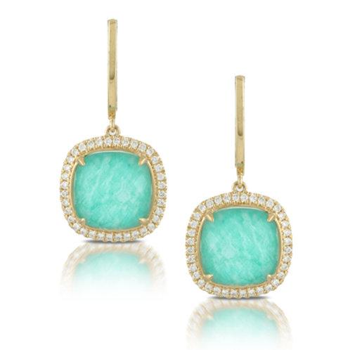 DOVES Amazon Breeze and Diamond Drop Earrings