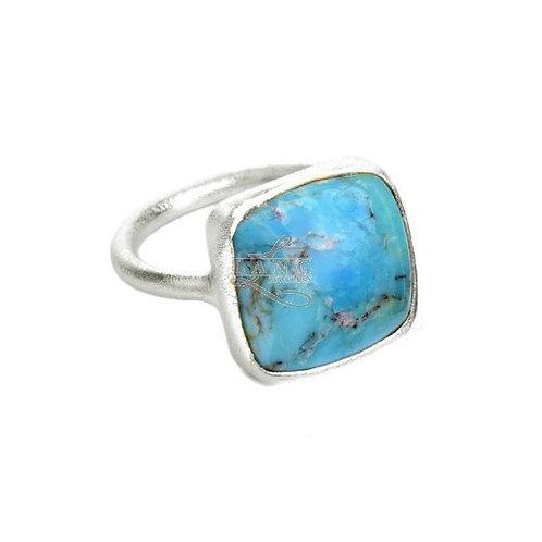 NINA NGUYEN Sterling Silver ZEN-DHARMA Square Turquoise Ring
