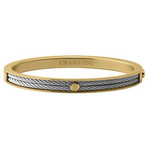 CHARRIOL Yellow Tone Stainless Steel FOREVER Thin 2mm Bracelet