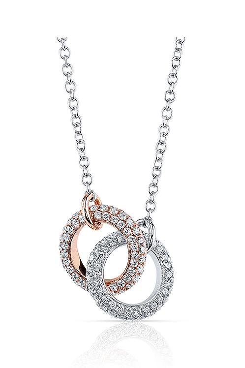 Elma Gil Diamond Rings Pendant on Chain DP-188