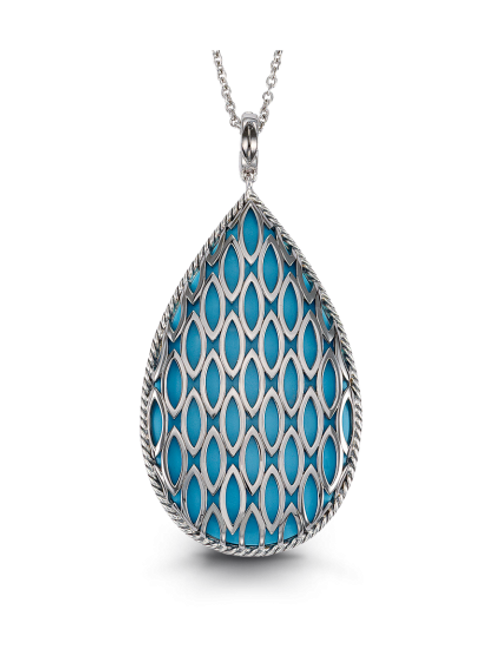 HERA Sterling Silver THEYA Turquoise Pendant on chain