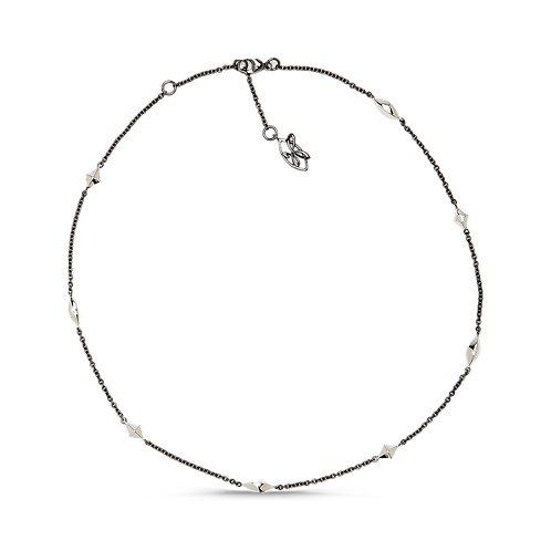 HERA Midnight Sterling Silver Life Links Signature Cable Chain