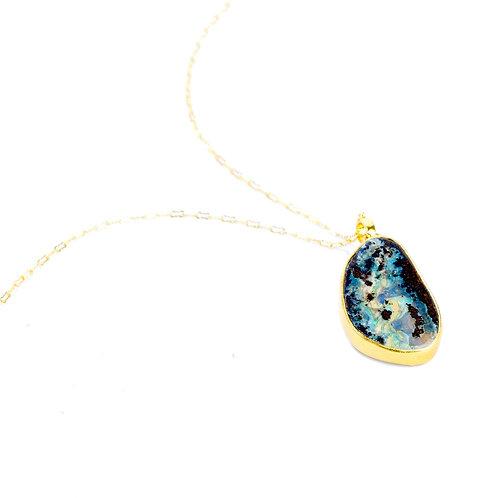 NINA NGUYEN 22K Gold Vermeil PINNACLE Boulder Opal Pendant on Chain