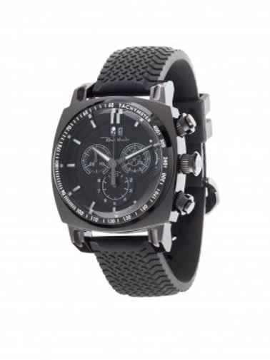 RITMO MUNDO Ritmo Racer 44mm Stainless Watch with Black Dial and Black Accents