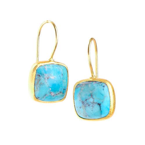 NINA NGUYEN 22K Gold Vermeil ZEN-DHARMA Turquoise Drop Earrings
