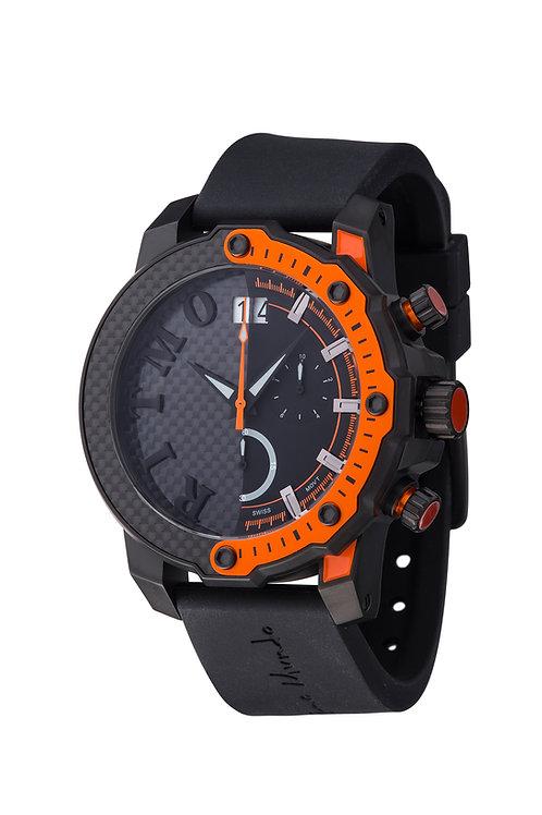 RITMO MUNDO Quantum III Racer 50mStainless with Black/Orange Carbon Fiber Dial