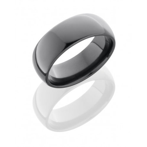 LASHBROOK Zirconium Domed Band with Polished Finish