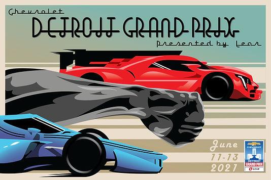 2021 Detroit Grand Prix Poster Competiti