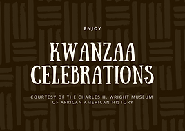 Brown and Cream Native Pattern Kwanzaa C