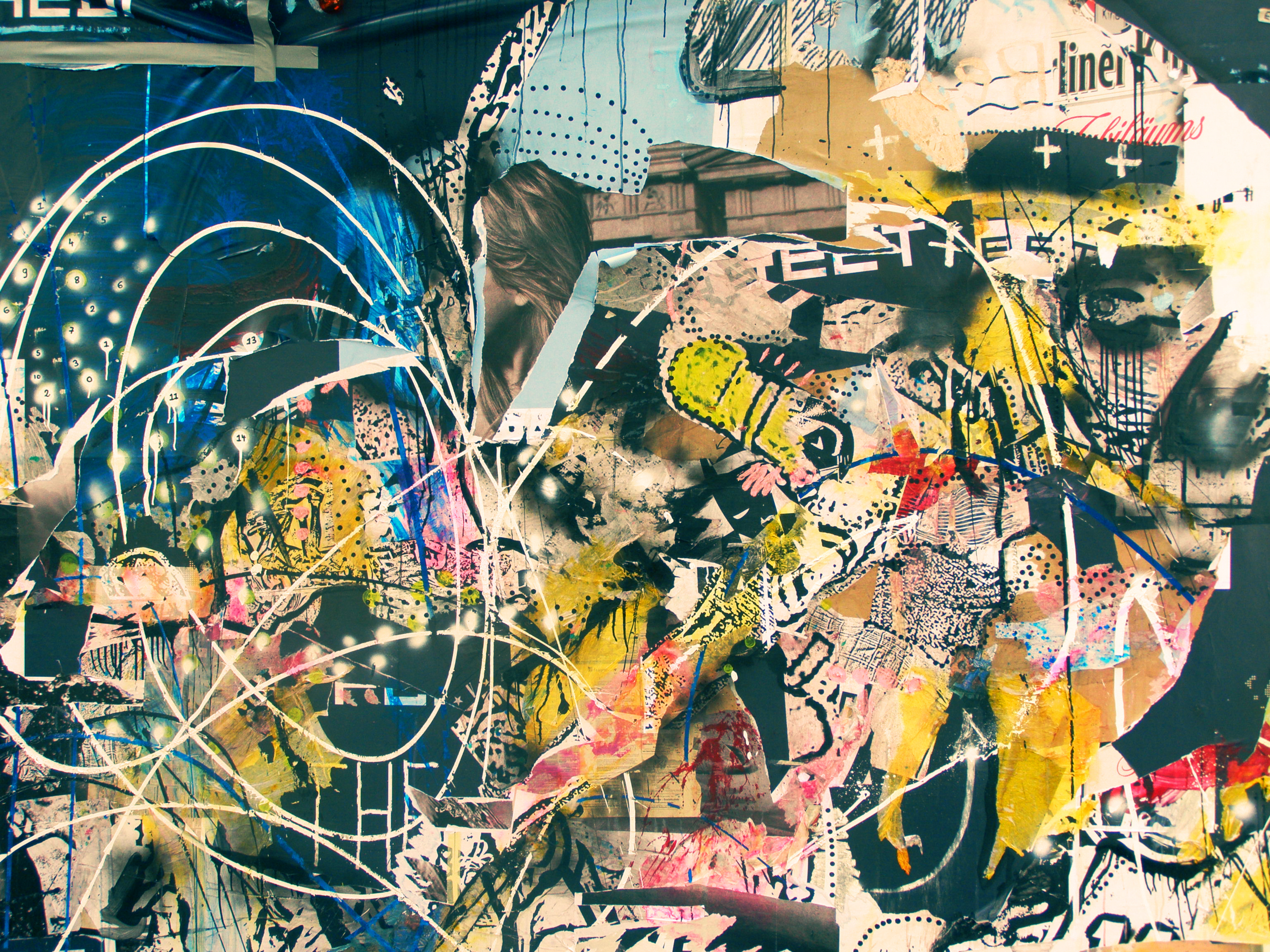 Abstract Graffiti Wall