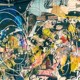 Abstrakte Graffiti-Wand