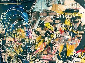 Extracto de la pared pintada