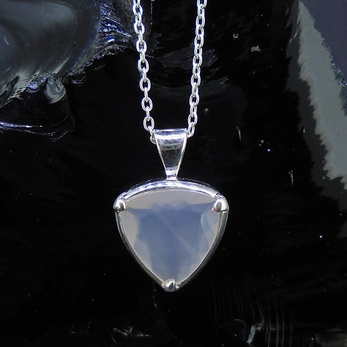 Scottish Chalcedony Sterling Silver Pendant
