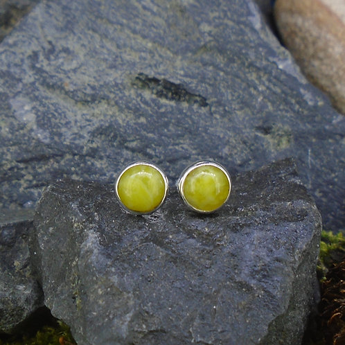Round 6mm Sterling Silver Stud Earrings