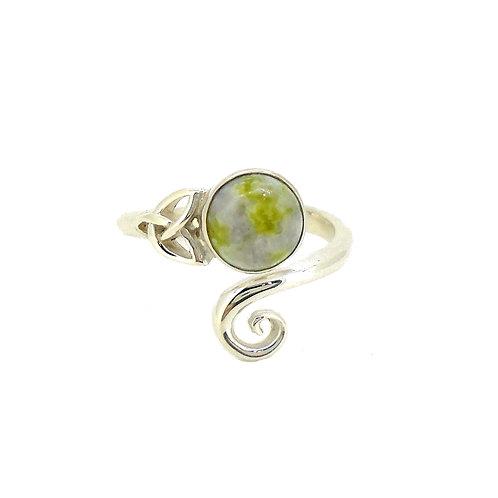 Iona Marble Celtic Trinity Ring