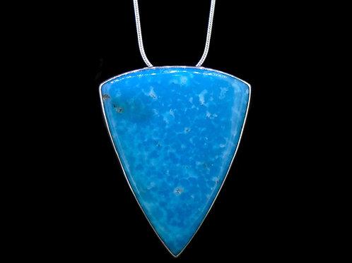 Mottled Turquoise Sterling Silver Pendant