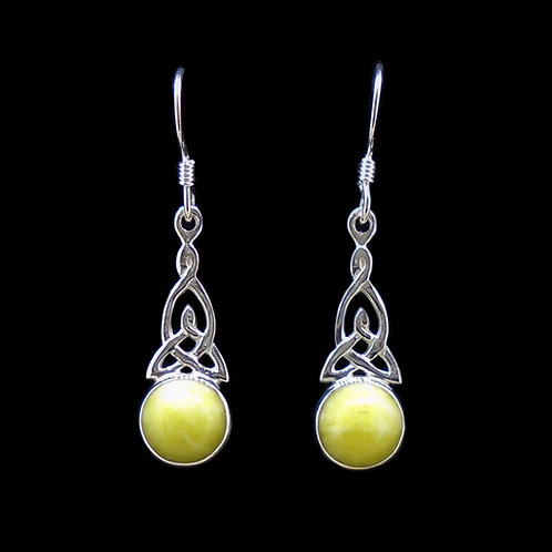Highland Marble  Sterling Silver Celtic Earrings