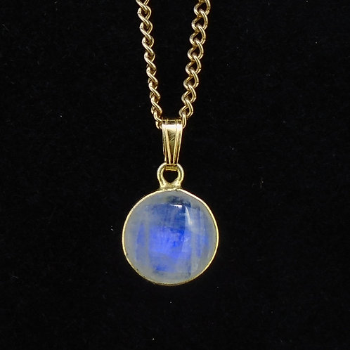 Moonstone Gold Plated Sterling Silver Pendant