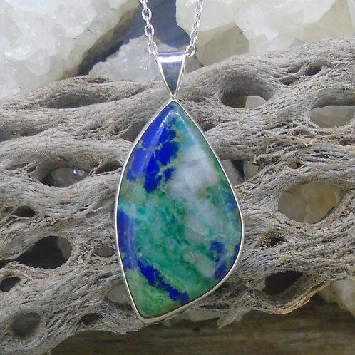 Azurite Malachite Sterling Silver Pendant