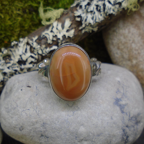 Scottish Agate Sterling Silver Wave Ring
