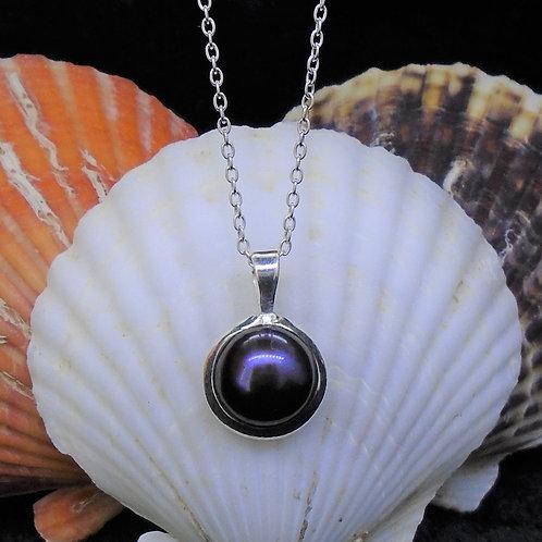 Black Pearl Sterling Silver Pendant