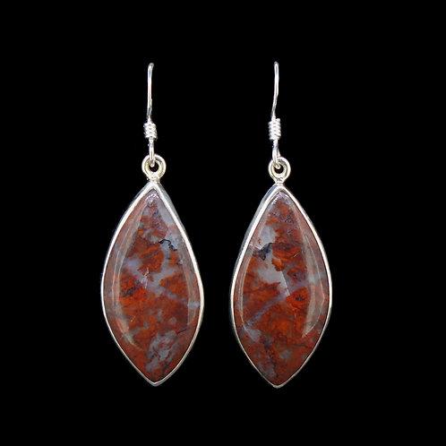Scottish Red Jasper Sterling Silver Earrings
