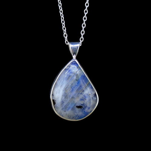 Blue Moonstone Sterling Silver Pendant