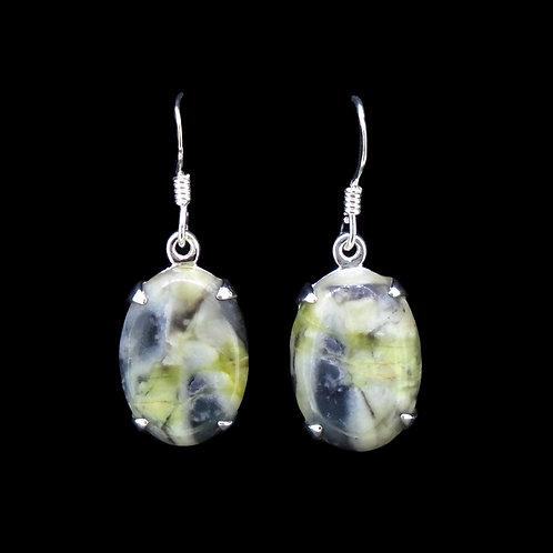 Skye Marble Sterling Silver Oval Earrings