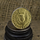 Thumbnail: Bawbee Coin 24ct Gold Plated Sterling Silver Ring