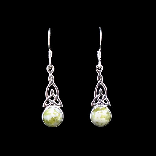 Iona Marble Celtic Knot Sterling Silver Earrings