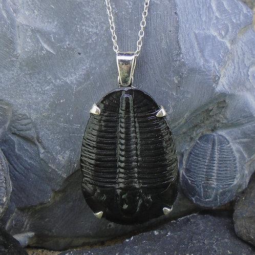 Large Trilobite Sterling Silver Pendant
