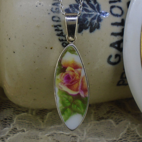Old Country Roses Sterling Silver Pendant