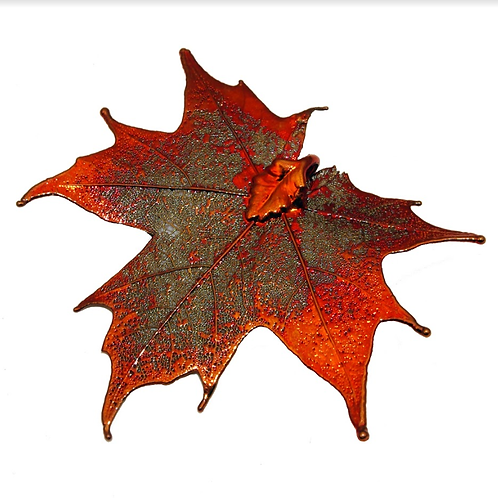 Canadian Maple Red Copper Pendant