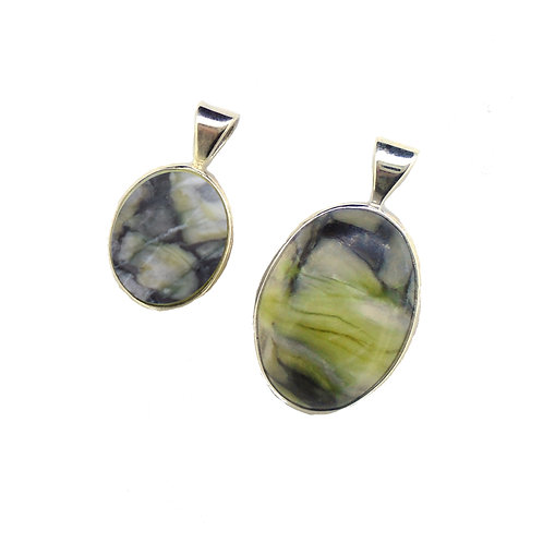Skye Marble Oval Pendants (2 Sizes)