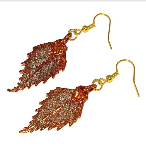 Birch Red Copper Earrings