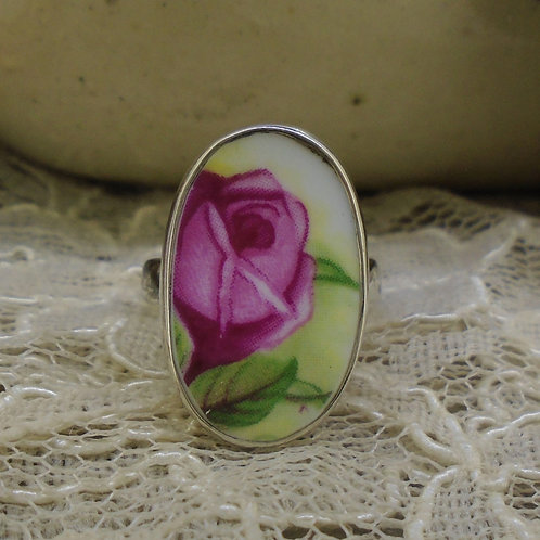 Old Country Roses Sterling Silver Adjustable Ring