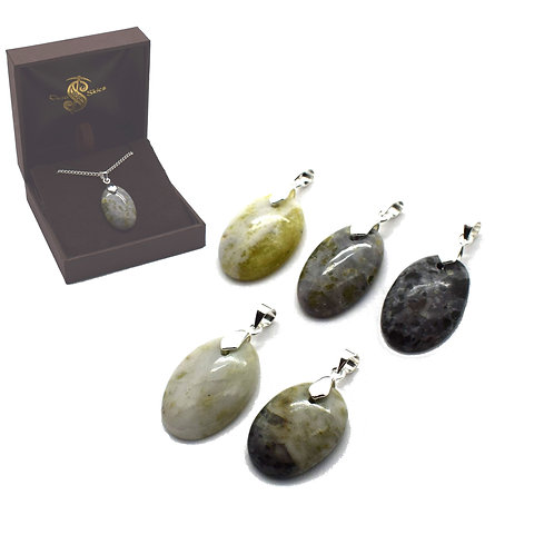 Iona Marble Pendants (Silver Plated) Pack of 5