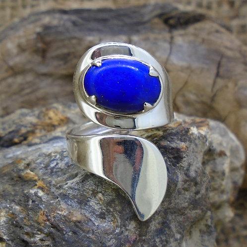 Lapis Lazuli Sterling Silver Wrap Ring