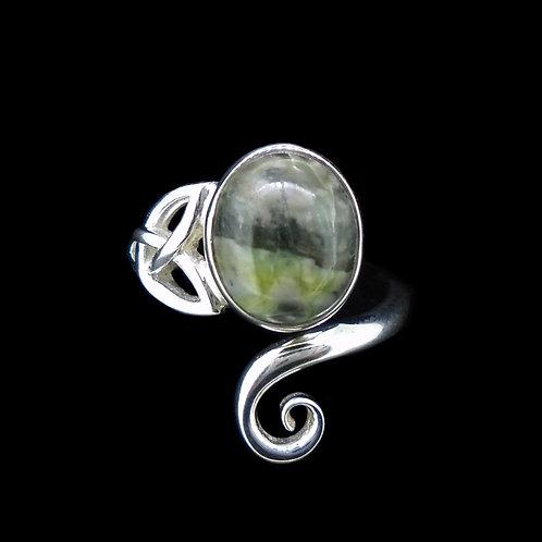 Skye Marble Celtic Sterling Silver Ring