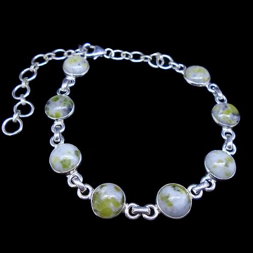 Iona Marble Sterling Silver Adjustable Bracelet