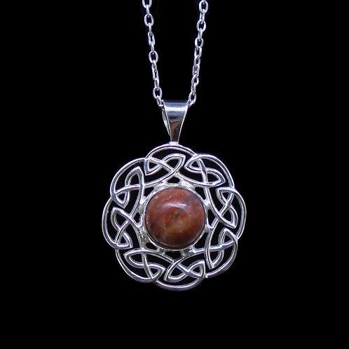 Lewisian Sterling Silver Celtic Circle Pendant