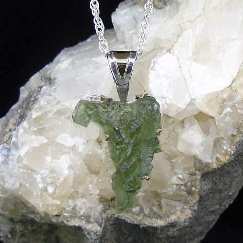 Moldavite Sterling Silver Pendant