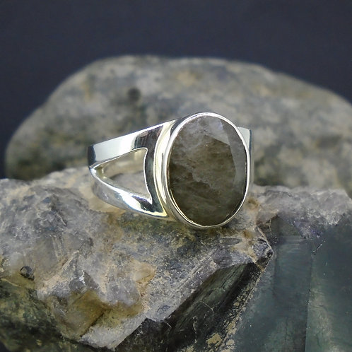 Cairngorm Quartz Sterling Silver Ring