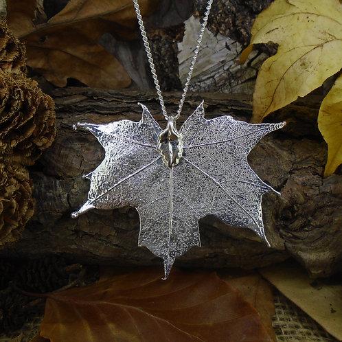 Canadian Maple Pendant - Silver